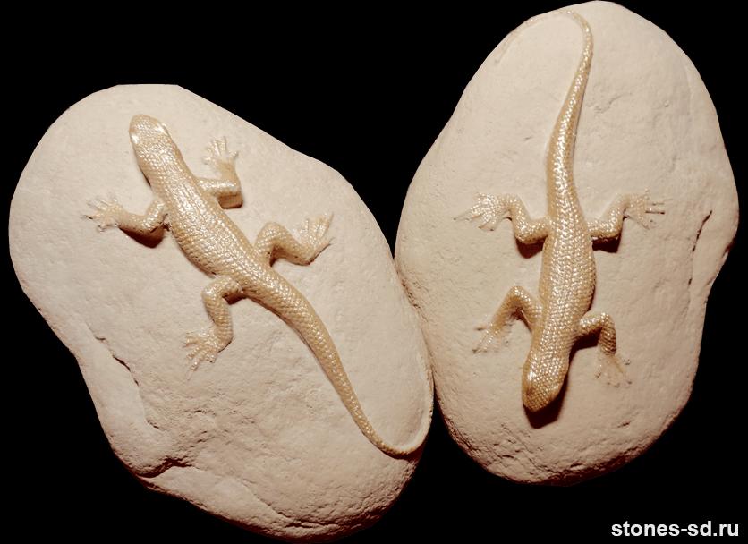 Декоративный камень Декор ящерицы розовый песок