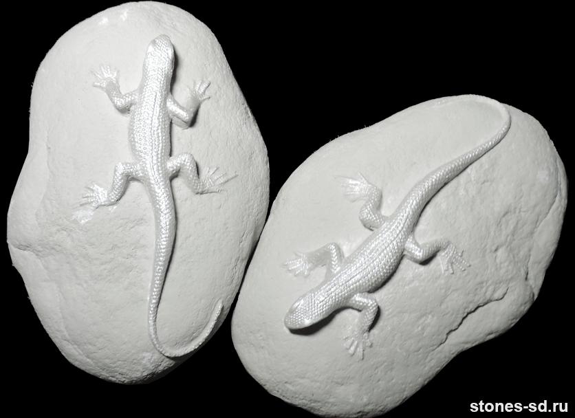 Декоративный камень Декор ящерицы серые