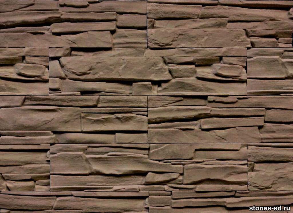 Декоративный камень Альпы коричневые