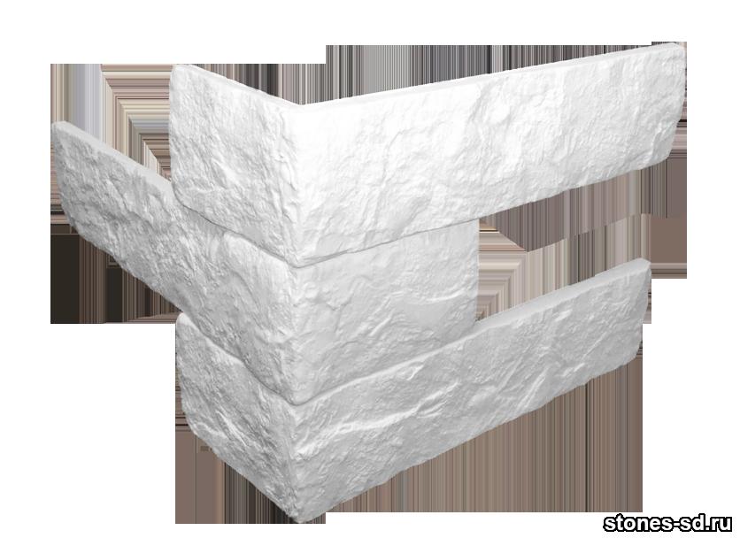 Декоративный кирпич Brick Blanco угловые элементы