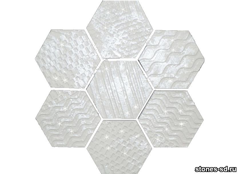 Art-deco blanco silver