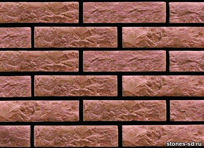 Декоративный кирпич Brick burgundy