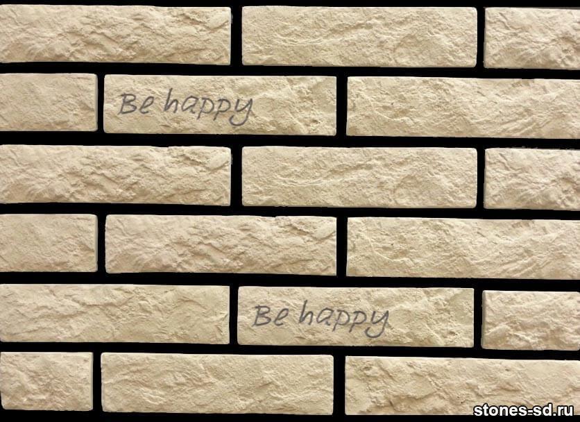 Декоративный кирпич Brick beige tekst
