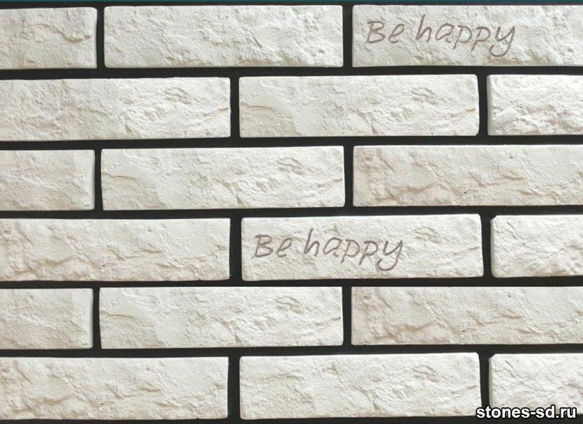 Декоративный кирпич Brick blanco tekst