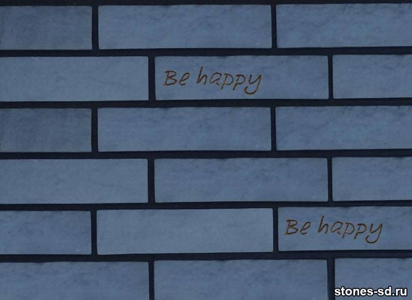 Декоративный кирпич Brick blue tekst