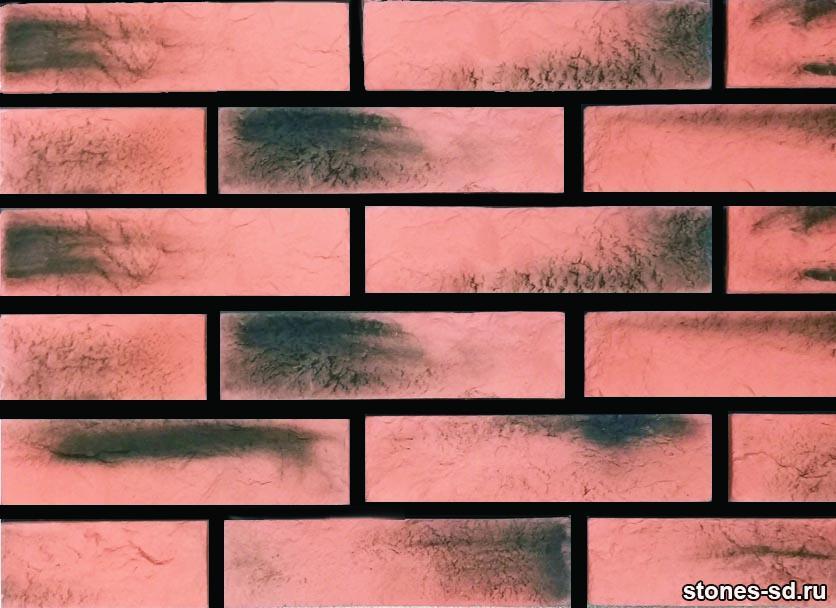 Декоративный кирпич Brick red-black