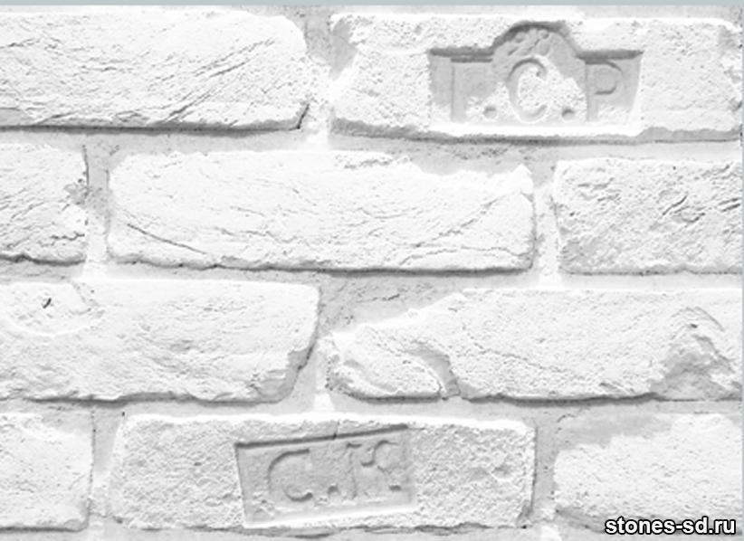 Декоративный кирпич Старый Питер blanco