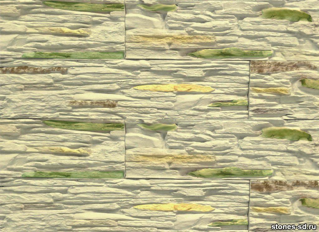 Декоративный камень Сланец бежево-зеленый