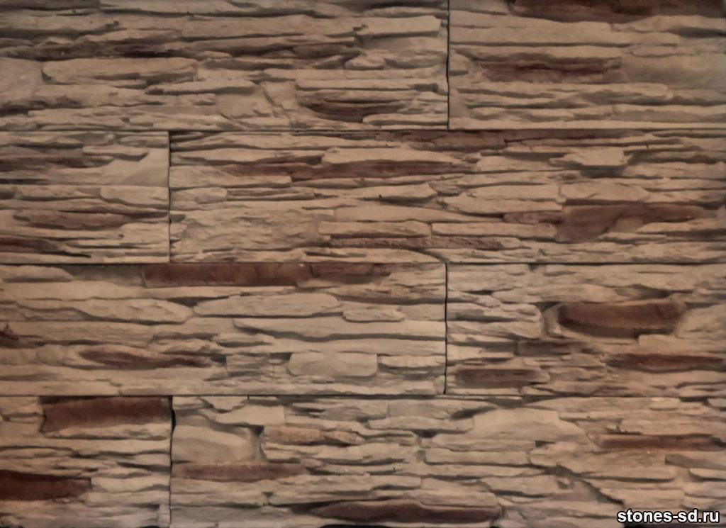 Декоративный камень Сланец темно-коричневый