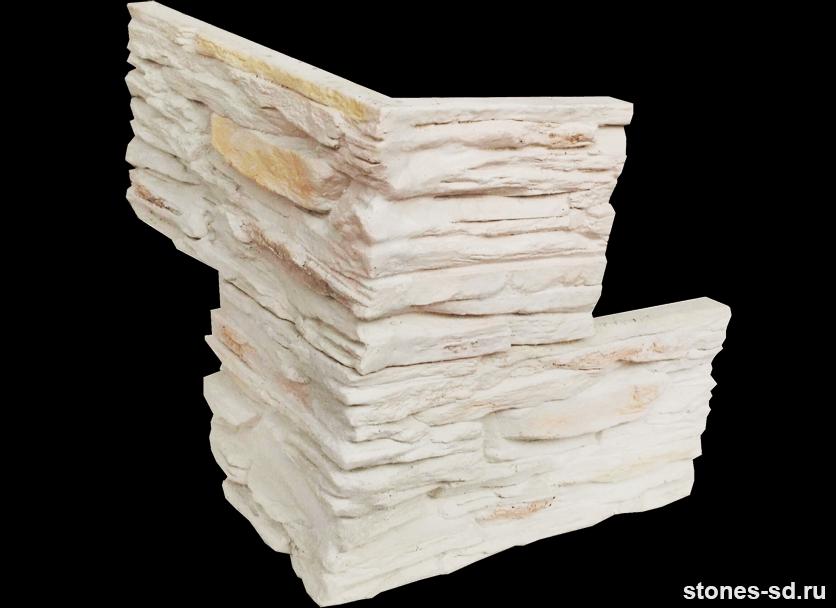 Декоративный камень Сланец белый угловые элементы