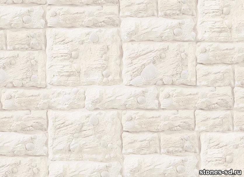 Декоративный камень Shell blanco