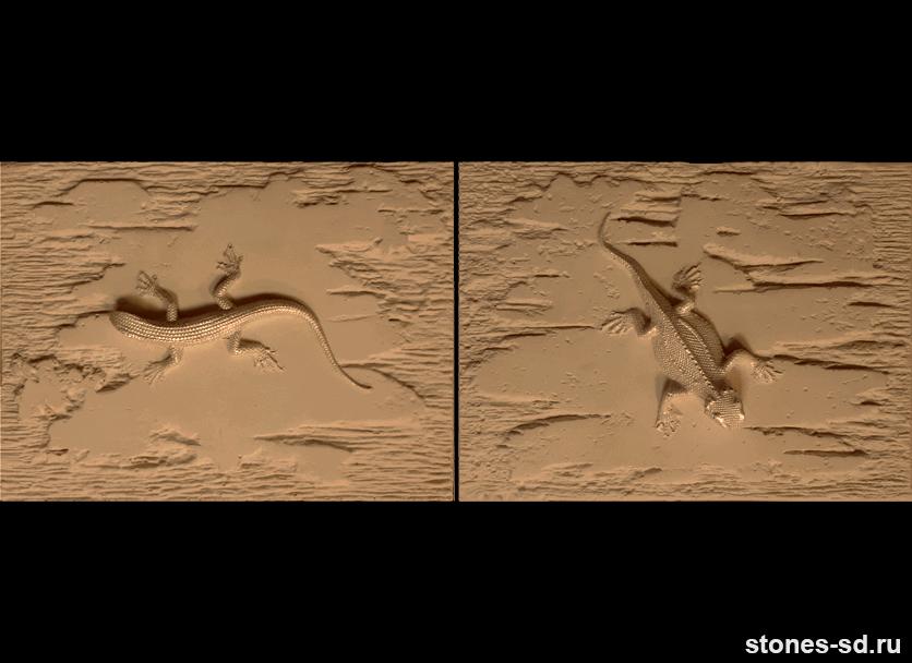 Декоративный камень Stone brown decor salamandra 2pz