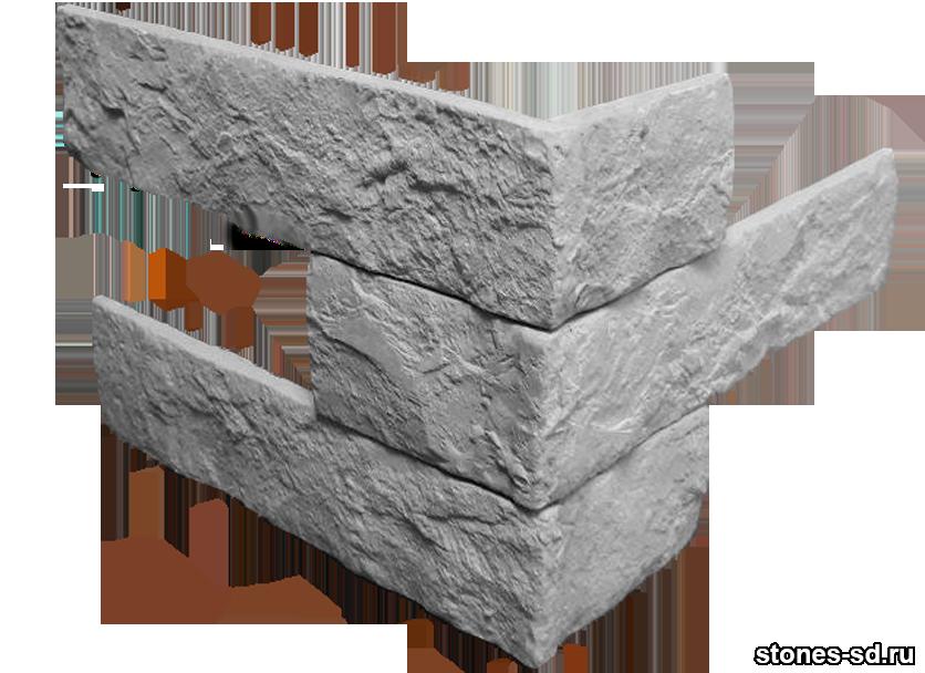 Декоративный кирпич Brick Antracite угловые элементы