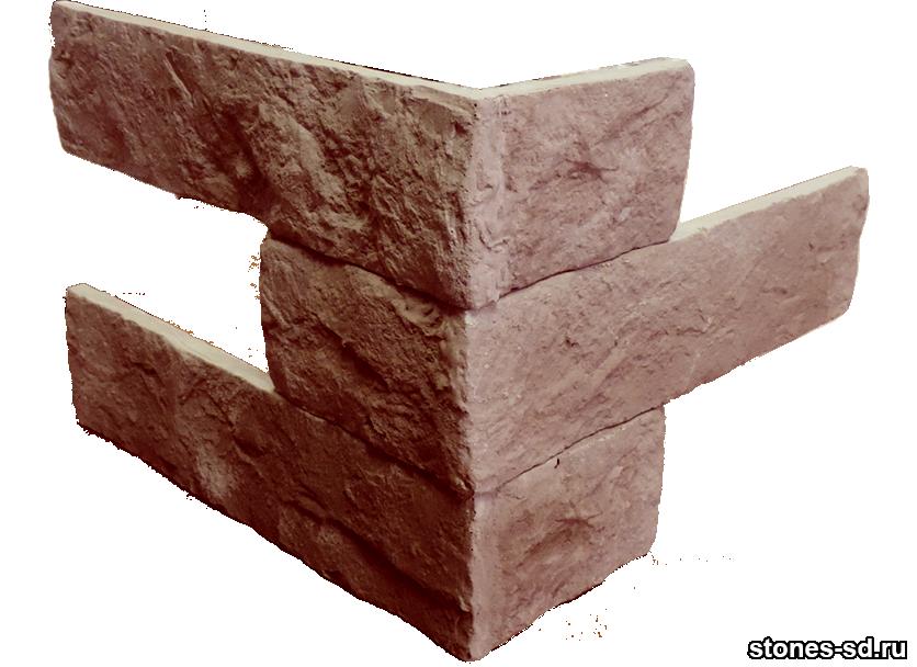 Декоративный кирпич Brick Burgundy угловые элементы