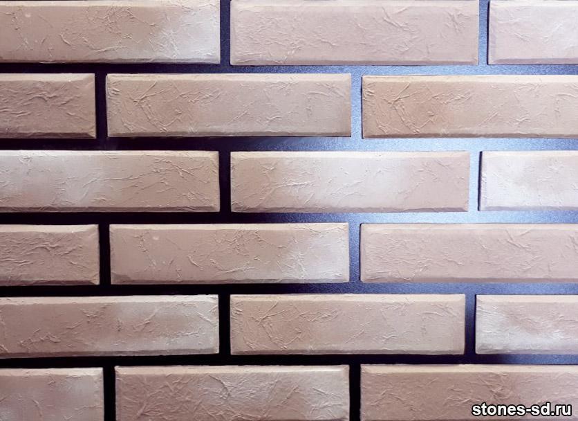 Декоративный кирпич Лофт розовый песок
