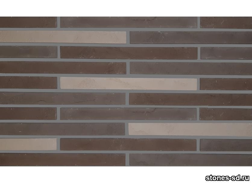 Декоративный кирпич Ригель коричневый