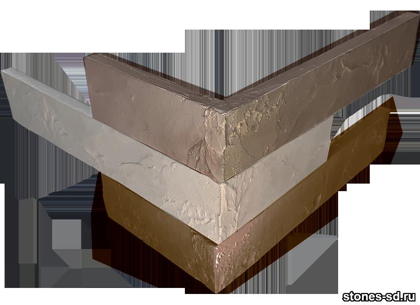 Декоративный кирпич Ригель бежево-коричневый угловые элементы