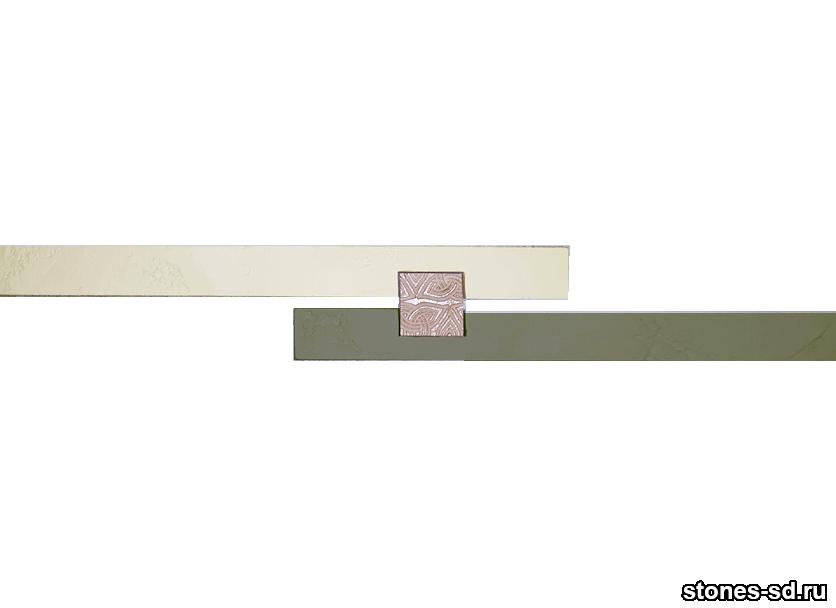 Декоративный кирпич Ригель бежево-зеленый decor A inserto beige 5X5