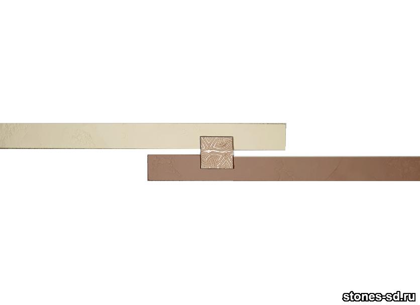 Декоративный кирпич Ригель бежево-коричневый decor A inserto beige 5X5