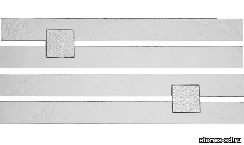 Декоративный кирпич Ригель белый decor B inserto blanco 5X5