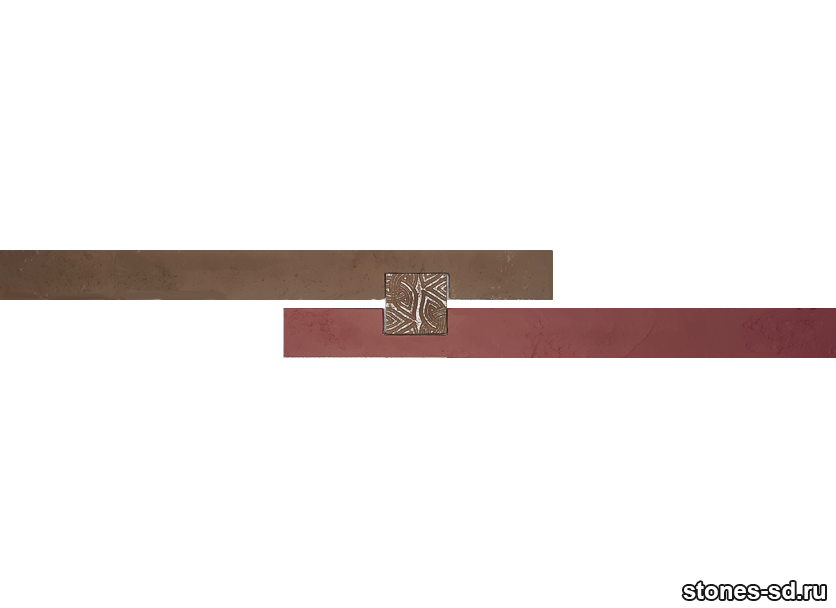 Декоративный кирпич Ригель бургунди decor A inserto chocolate 5X5