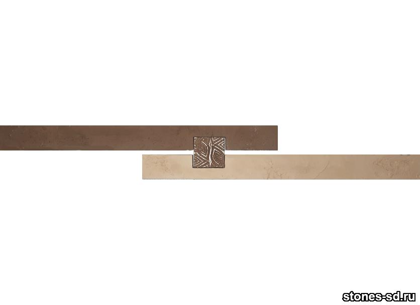 Декоративный кирпич Ригель коричневый decor A inserto chocolate 5X5