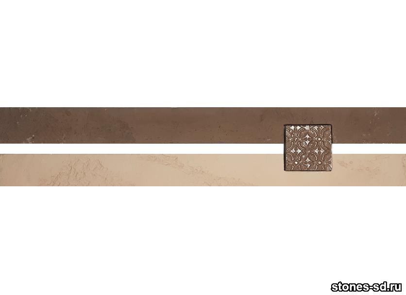Декоративный кирпич Ригель коричневый decor B inserto chocolate 5X5