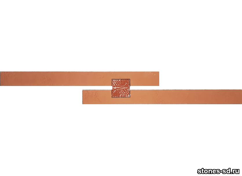 Декоративный кирпич Ригель красный decor A inserto red 5X5