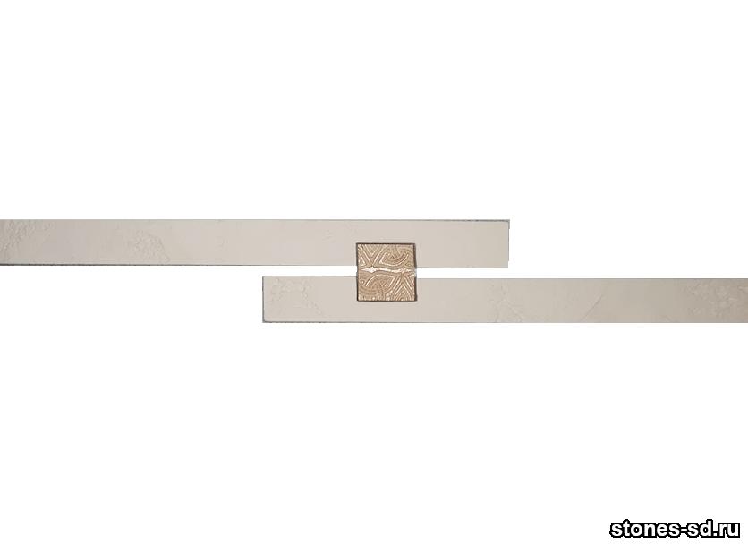 Декоративный кирпич Ригель светло-бежевый decor A inserto beige 5X5