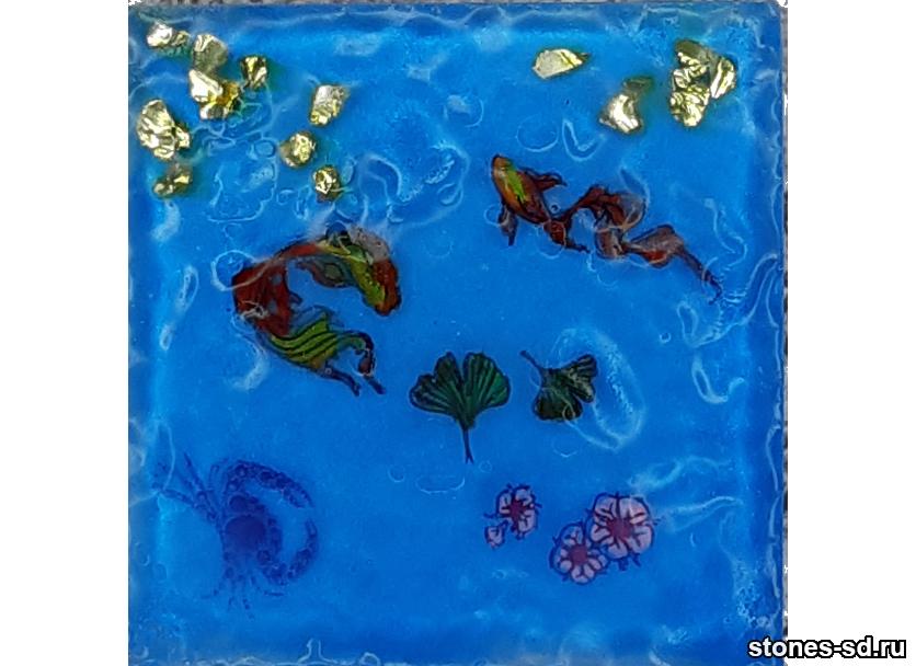 Декоративный кирпич 3D-Décor A inserto-5 Рыбки Фен-шуй