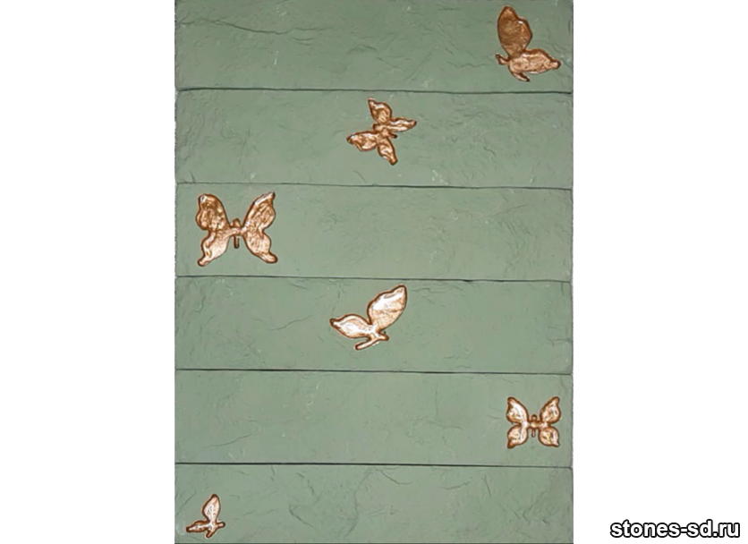 Декоративный кирпич Brick green butterfly bronze 6pz
