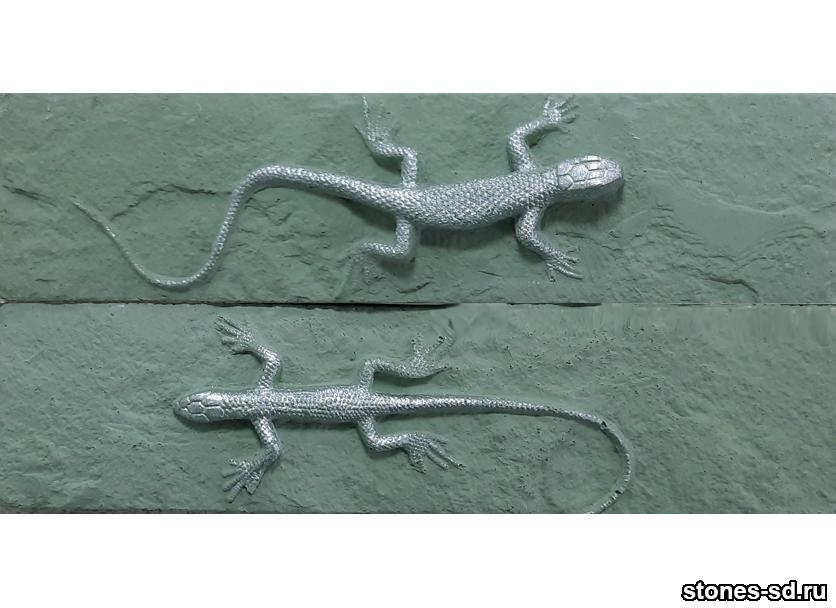 Декоративный кирпич brick green salamandra silver 2pz